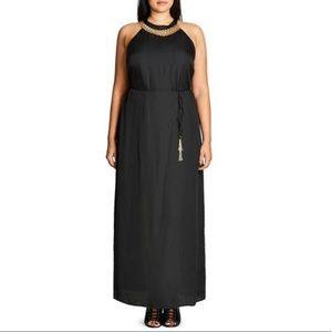 NWT City Chic Chain Halter Detail Maxi Dress